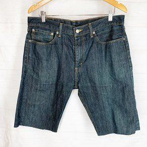 Levi 508 Jean Shorts Mens 34 In Cut Offs Dark Wash